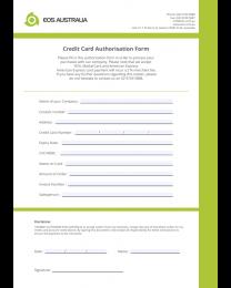 EOS Credit Card Authorisation Form