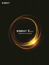 {Obsolete} Wisenet X Series Brochure