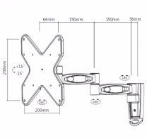 SC-LCD Wallmount-Articulate 32-37
