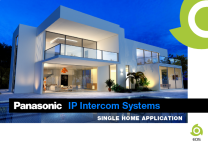 Panasonic IP Intercom Systems for Single Home Application