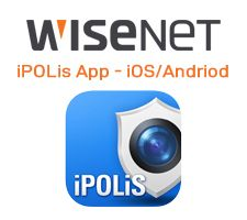 Wisenet iPOLis App for iOS and Android