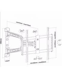 SC-LCD Wallmount-Articulate 37-60