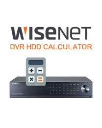 WISENET DVR HDD CALCULATOR